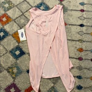 Old Navy open back pink tank size 10-12